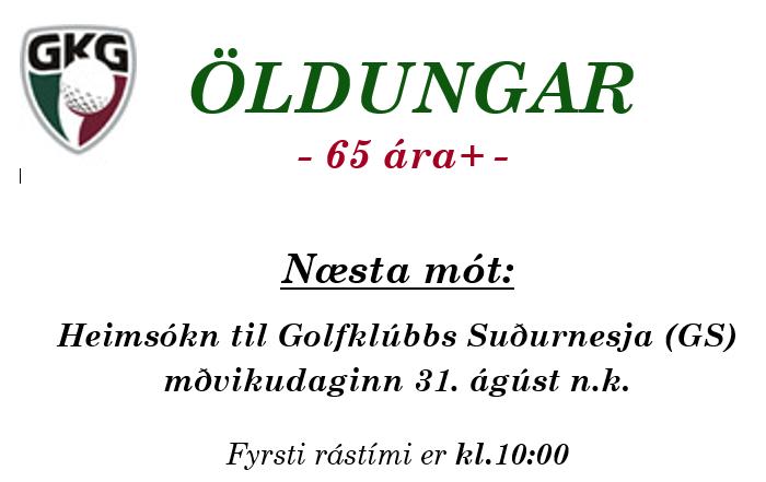 Næsta mót öldunga ( 65 plús )