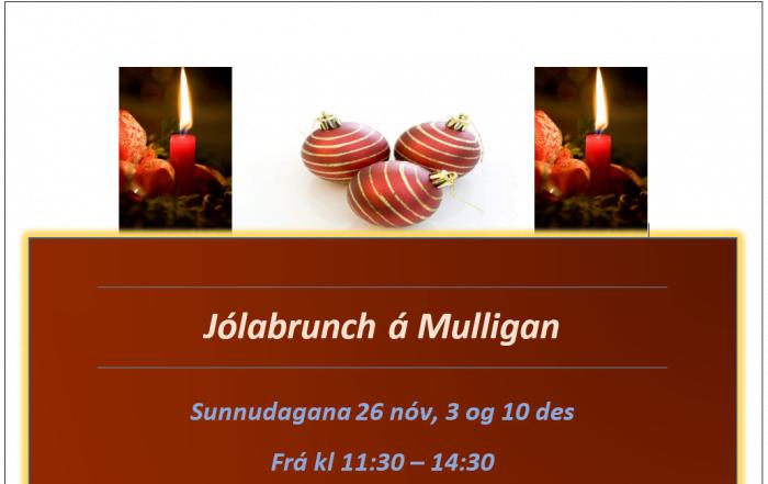 Jólabrunch á Mulligan, veitingastað GKG